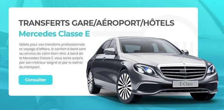 Mercedes Classe E avec chauffeur