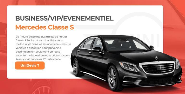 Mercedes Classe S avec chauffeur
